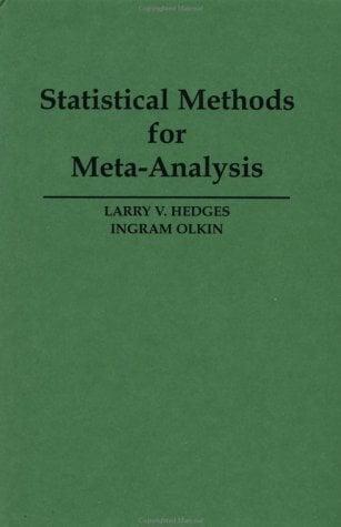 Statistical Method for Meta-Analysis 9780123363800