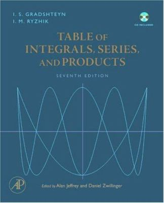 Table of Integrals, Series, and Products [With CDROM]