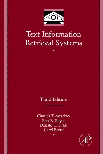 Text Information Retrieval Systems 9780123694126