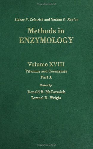 Vitamins and Coenzymes, Part a: Volume 18a: Vitamins and Coenzymes 9780121818791