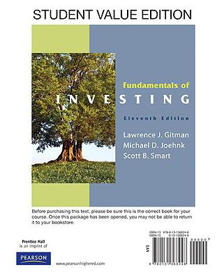 Fundamentals of Investing [With Access Code] 9780132109338
