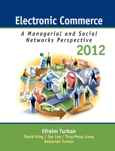 Electronic Commerce: A Managerial and Social Networks Perspectives