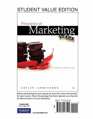 Principles of Marketing, Student Value Edition 9780132167192