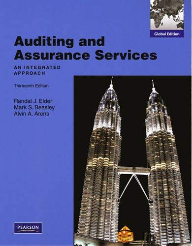 Auditing and Assurance Services: An Integrated Approach. 9780132458931