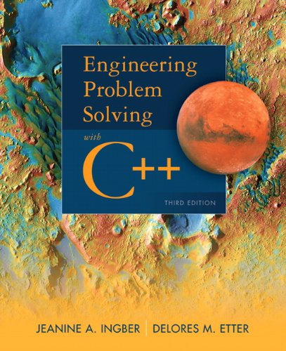 Engineering Problem Solving with C++ 9780132492652