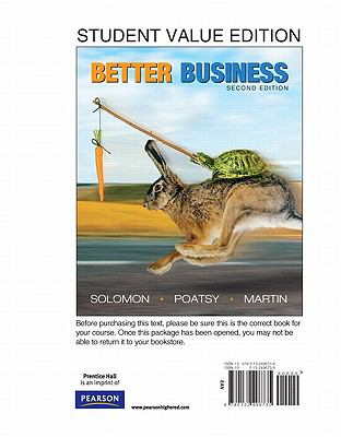 Better Business, Student Value Edition 9780132496735