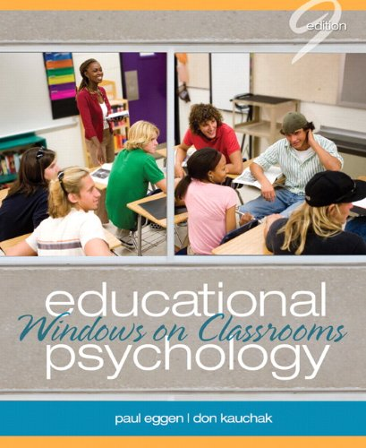 Educational Psychology: Windows on Classrooms 9780132610216