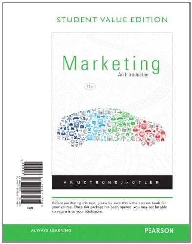Marketing: An Introduction, Student Value Edition 9780132744171