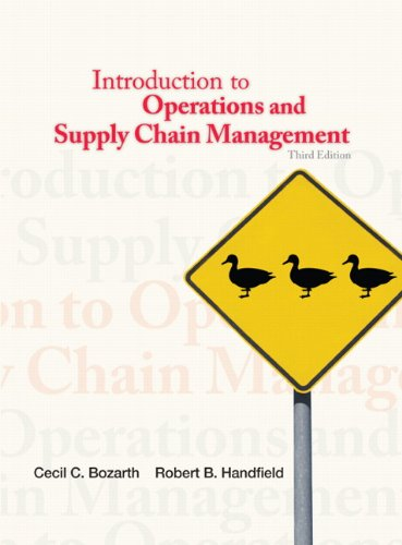 Introduction to Operations and Supply Chain Management 9780132747325