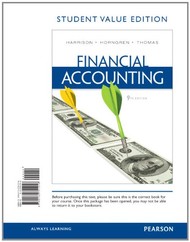 Financial Accounting, Student Value Edition 9780132751216