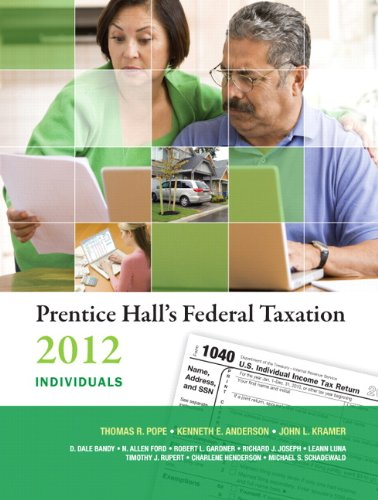 Prentice Hall's Federal Taxation Individuals 9780132754026