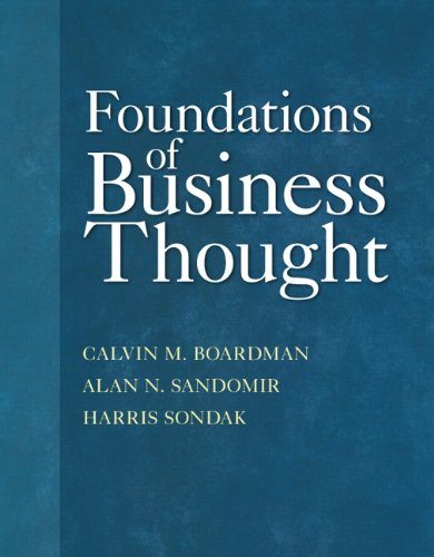 Foundations of Business Thought 9780132856072