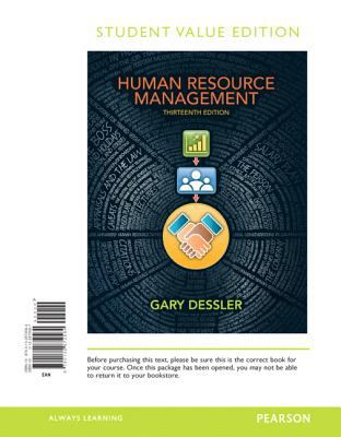 Human Resource Management, Student Value Edition 9780132872584