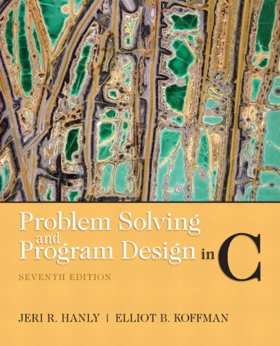 Problem Solving and Program Design in C 9780132936491