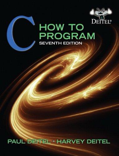 C How to Program 9780132990448