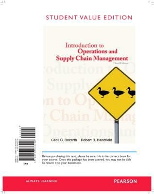 Introduction to Operations and Supply Chain Management, Student Value Edition 9780133076226