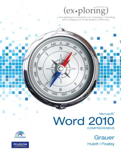 Microsoft Office Word 2010, Comprehensive [With Charts] 9780135104408