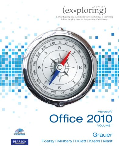 Microsoft Office 2010, Volume 1 [With CDROM] 9780136122326