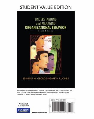 Understanding and Managing Organizational Behavior, Student Value Edition 9780136124498