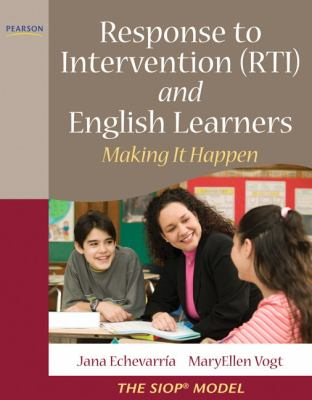 Response to Intervention (RTI) and English Learners: Making It Happen 9780137048908