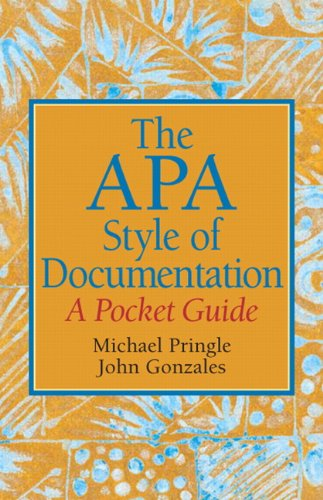 The APA Style of Documentation: A Pocket Guide 9780136049708