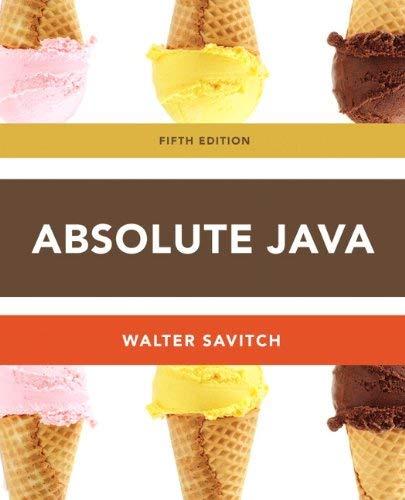 Absolute Java 9780132830317