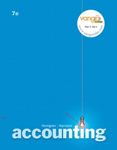 Accounting: Chapters 1-17 9780132399494