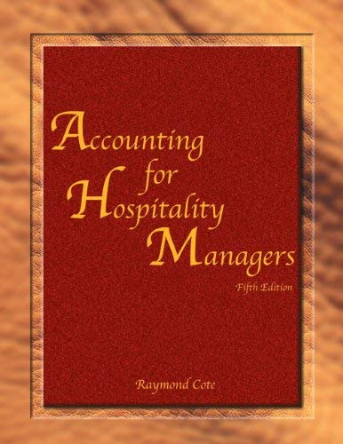 Accounting for Hospitality Managers (Ahlei) 9780133110050