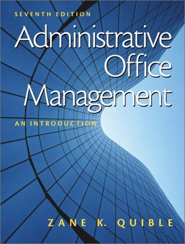 Administrative Office Management: An Introduction 9780130859570
