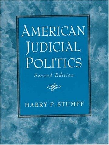 American Judicial Politics 9780130334657
