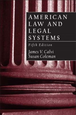 American Law and Legal Systems 9780130993113