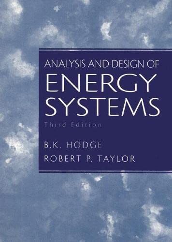 Analysis and Design of Energy Systems 9780135259733