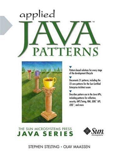 Applied Java Patterns 9780130935380