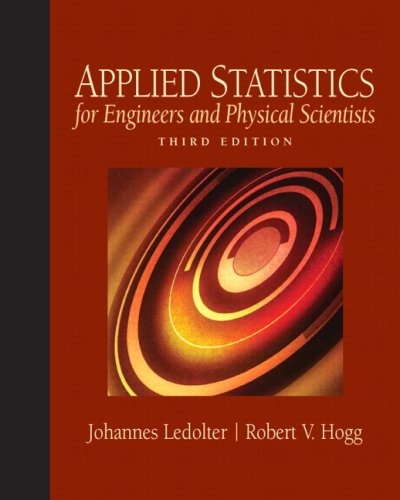 Applied Statistics for Engineers and Physical Scientists 9780136017981