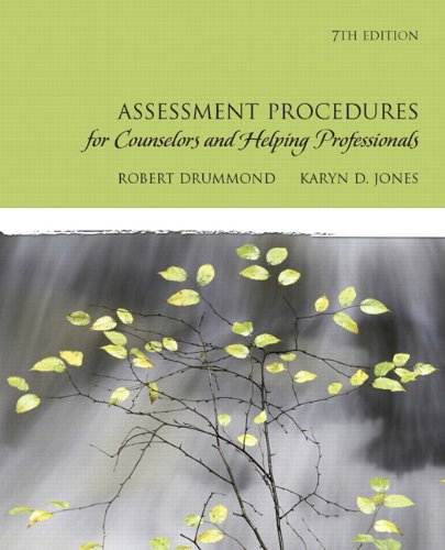 Assessment Procedures for Counselors and Helping Professionals [With CDROM] 9780137152520