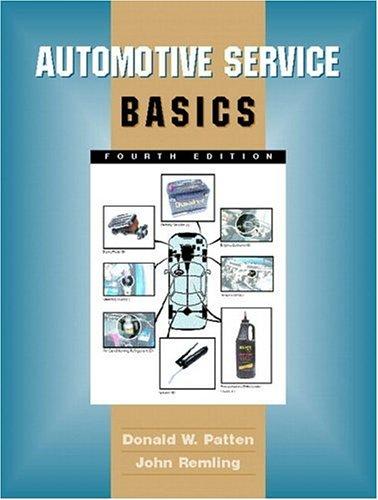 Automotive Service Basics 9780130898685