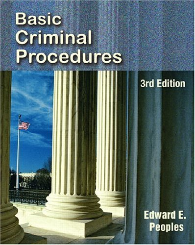 Basic Criminal Procedures 9780131731929