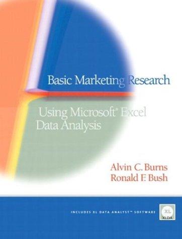 Basic Marketing Research: Using Microsoft Excel Data Analysis 9780131519510