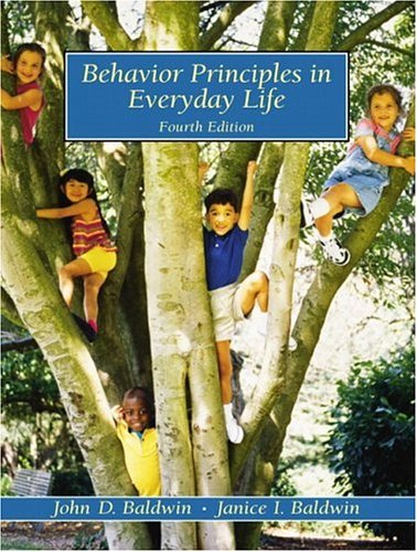 Behavior Principles in Everyday Life 9780130873767