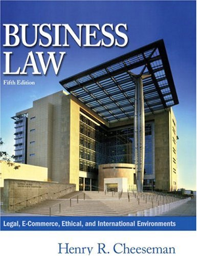 Business Law 9780131009417