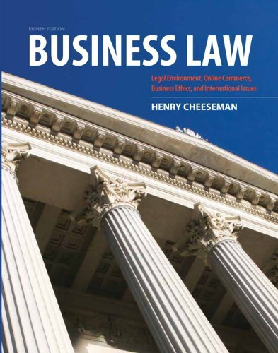 Business Law 9780132890410