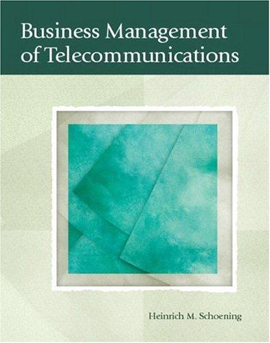Business Management of Telecommunications 9780130983886