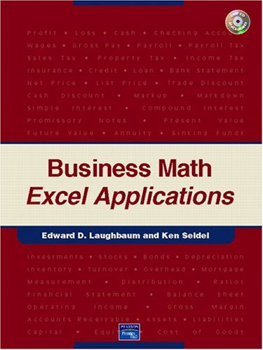 Business Math Excel Applications 9780131526822