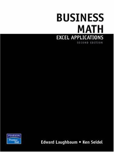 Business Math Excel Applications 9780136071846