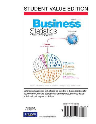 Business Statistics, Student Value Edition 9780136021544