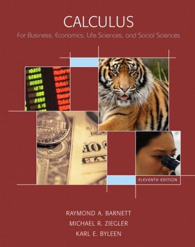 Calculus: For Business, Economics, Life Sciences, and Social Sciences 9780132328180