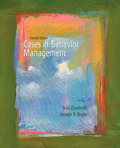 Cases in Behavior Management 9780131715912