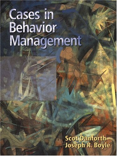 Cases in Behavior Management 9780137557110