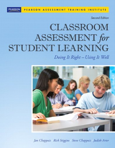 Classroom Assessment for Student Learning: Doing It Right - Using It Well [With CDROM] 9780132685887