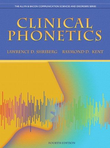Clinical Phonetics 9780137021062